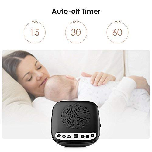 White Noise Sound Machine Sleep with Radio, 6 Relaxing Soothing Nature Sounds, USB Charging for Adults