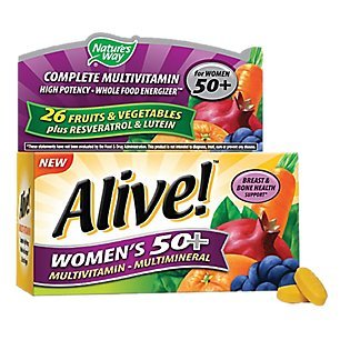 Natures Way - Alive! Womens 50+ Multivitamin & Multimineral, 50 tablets