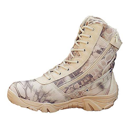 d1297a6e99af2e HARGLESMAN Tactical Boots Men's 8 Inches Side Zip Combat Special Field Boots