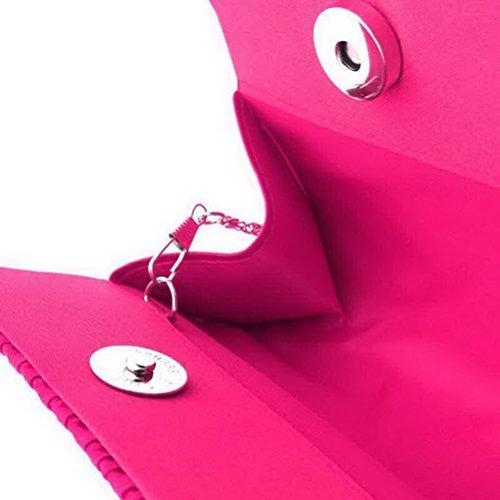 SUMAJU - Cartera de mano para mujer azul azul rosa roja