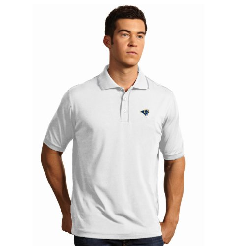 - NFL St. Louis Rams Men's Elite Desert Dry Polo, White/Silver, Large