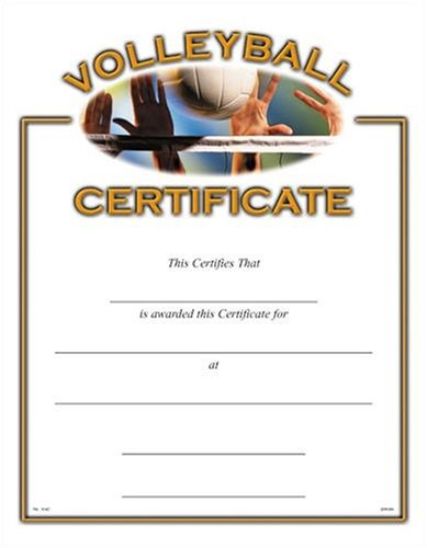 Amazon.com : Sports Certificates (10 Pack) - Volleyball : Volleyball ...