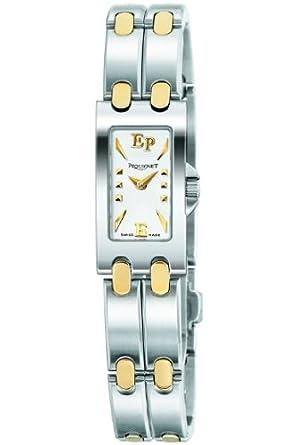 61e062d429 Pequignet - 3601418 - Montre Femme Moorea Baguette Or & Acier ...
