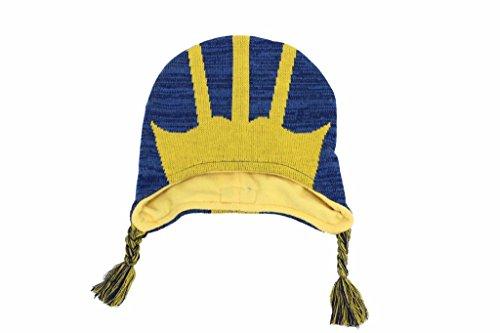 Mascot Wear NCAA College Unisex Michigan Wolverines Youth Beanie Knit Hat (Wolverine Mascot)