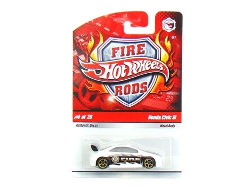 Hot Wheels Fire Rods Honda Civic SI White/ Black #4 of 26