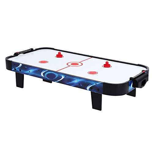YUEBO Electronic Air Hockey Table Top for Kids Indoor Game, 2 Free Pushers and 2 Pucks by YUEBO