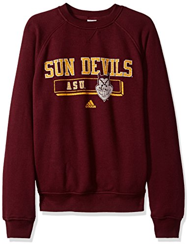 NCAA Arizona State Sun Devils Men's PHYS Ed Class Vault Fleece Crew Sweat Shirt, Large, Maroon (Sun Devil Jacket)