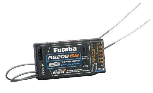 Futaba R6208SB S.Bus 8-Channel FASST High Voltage (HV) Receiver (Rx)