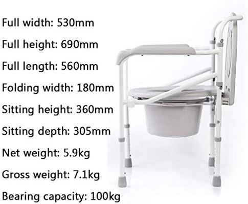 Bbhhyy Toilettenstuhl WC-Sitz Alte Frau Schwangere Frau Potty Toilette Hocker Haushalt