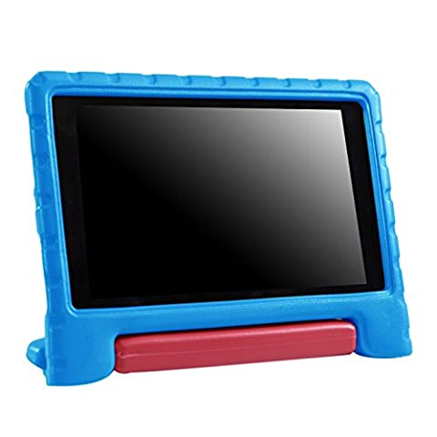 HDE Kids Case for 2017 Fire HD 8 (7th Gen) and 2016 Fire HD 8 (6th Gen) Tablet Cover Lightweight Shock Proof Handle Stand for 6th Generation Amazon Fire HD8 (2017 and 2016 Release) (Blue & (Kindle Case Designer)