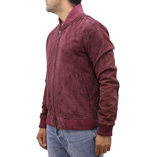 Et Pour 70 Blouson To Suède Z Bordeaux Hommes Lettreman Varsity Leather Finition Des Disponible A Aviateur Années En Daim Cuir Style A0wTTqg