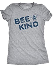 Womens Bee Kind T shirt Funny Vintage Graphic Tee Save the Bees Boobees Humor