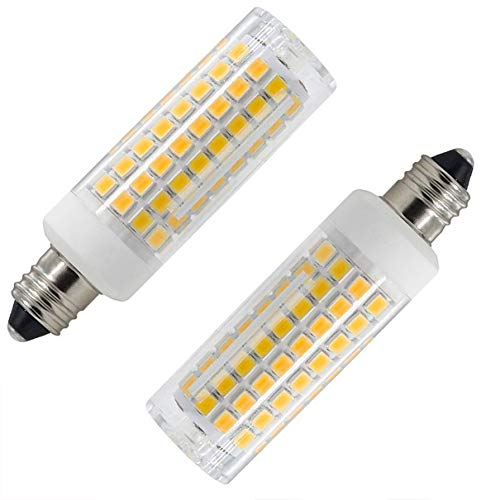 All-New E11 Led Bulb 8W Replacement (75W-80W) H,haioti Equivalent 850 LM Dimmable E11 Mini Candelabra led JD T3/T4 360 Degree Beam Angle for Indoor Decorative Lighting(2 Pack of) (Warm White)