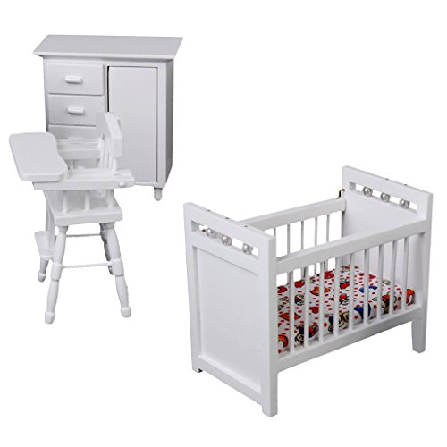 1/12 Dollhouse Miniature Furniture Baby Bedroom Set for sale  Delivered anywhere in USA