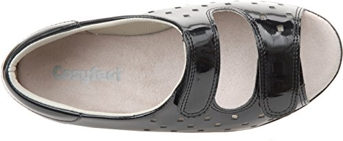 Cosyfeet Connie Sandals - Extra Roomy (Eeeee+ Width Fitting) Black Patent 3qqqSKl