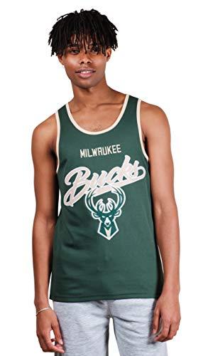 (Ultra Game UNK NBA Milwaukee Bucks Men's Jersey Tank Top Mesh Sleeveless Muscle T-Shirt, Hunter Green, Small)