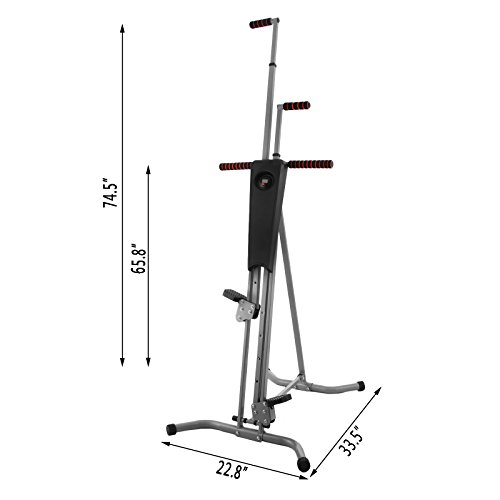 Happybuy Vertical Climber Exercise Machine 440LBS LCD Folding Climber Machine Fitness Stepper Climbing Machine Vertical Climber for Home Gym Exercise Cardio Workout Climbing Stair (P8008 Platic) by Happybuy (Image #8)