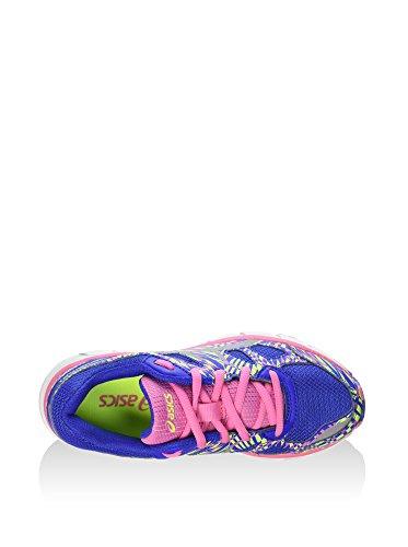 Asics - Zapatillas de running para niño negro Azul / Rosa / Lima