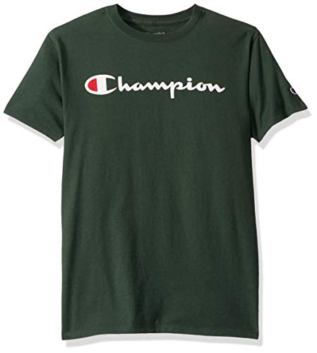 Champion Men's Classic Jersey Graphic T-Shirt, Dark Green, Small