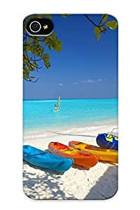 Catenaryoi Top Quality Case Cover For Iphone 4/4s Case With Nice Island Hideaway At Dhonakulhi Appearance