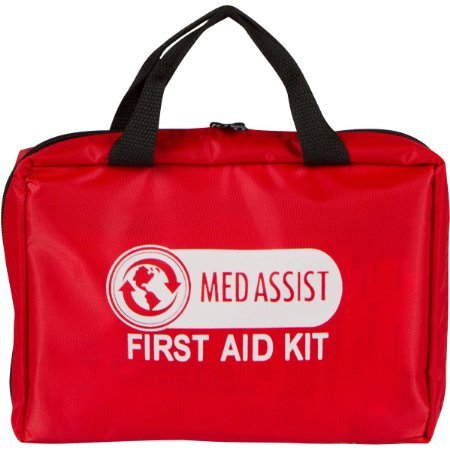 Small First Aid Kit, 100pc,w Meds, Medical Kit