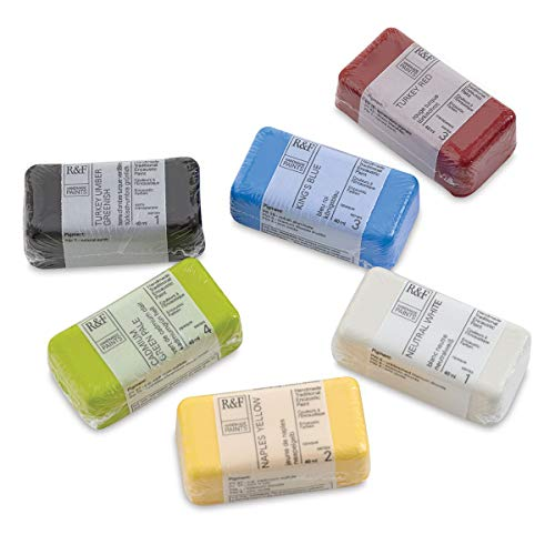 R&F Handmade Paints 1921 Premium Artist Encaustic Paint Studio Essentials Set, Multi