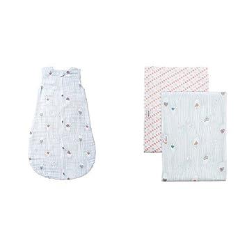 b1b2dc033d Amazon.com  Bebe au Lait Premium Muslin Bedtime Sleeper and Swaddle Blanket  Set