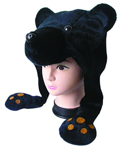 Jacobson Hat Company Plush Bear - Black Hat Bear