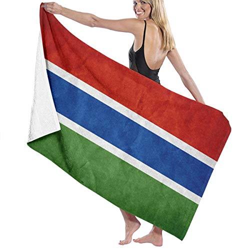 現象ホバーカテナビーチバスタオル バスタオル ガンビア旗 バスタオル 海水浴 旅行用タオル 多用途 おしゃれ White