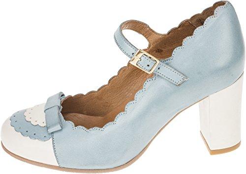 La Cremefarben Schuhe Vintage Pumps Graublau Damen Geschlossen