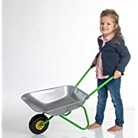 OA Rolly Toys metalen kruiwagen zilver/groen kinderkruiwagen (voor kinderen vanaf 2 jaar, metalen kom, belastbaar tot 25…