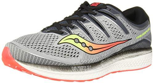 (Saucony Men's Triumph ISO 5 Running Shoe, Grey/Black, 15 M US)