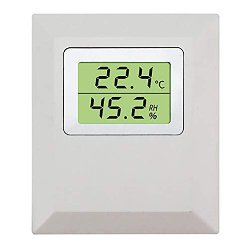 WEIWEI Indoor Digital Thermometer Hygrometer Station, with Sensor chip Liquid Crystal Display Temperature and Humidity Transmitter