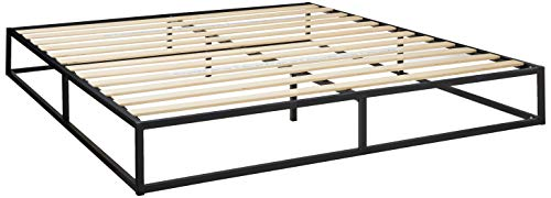 Modern Studio 10 Inch Platforma Low Profile Bed Frame/Mattress Foundation/Boxspring Optional/Wood slat support, - Photo Box Personalize