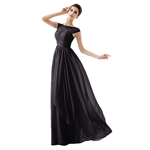 Besswedding Scoop Élégantes Robes De Mariée Avec Robe De Cocktail Mancherons En Mousseline De Soie Noire