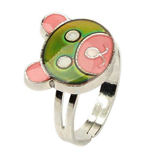 Price comparison product image Arsmt Adjustable Bear Color Changing Mood Ring Emotional Feeling Anxiety Relax Finger Ring