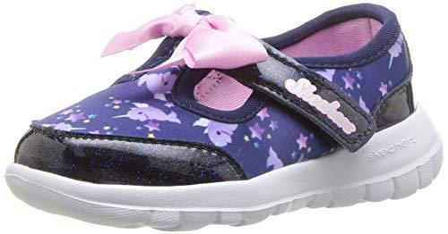 Skechers Kids Girls' GO Walk Joy-Sparkle Squad Sneaker, Navy/Multi, 10 Medium US Toddler