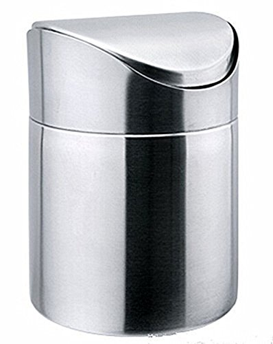 Stainless Steel Mini Table (Decity Stainless Steel Desk Trash Bin Countertop Waste Can 1.5 L / 0.40 Gal (Silver))