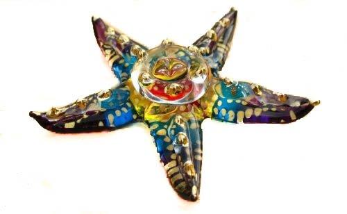 Handmade Starfish Art Art Glass Blown Sea Animal Figurine
