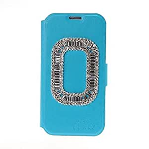 hao Annulus Style Diamond Encrusted Leather Case with Card Slot & Holder for Samsung Galaxy S4 i9500 , White