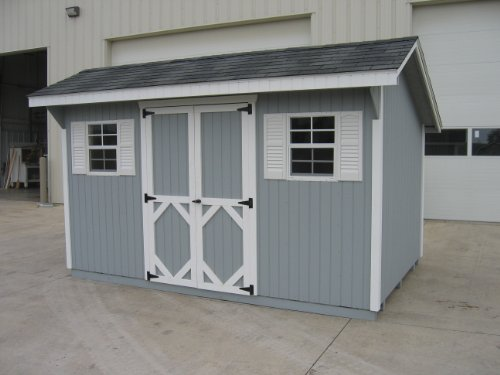 Little Cottage Company Classic Saltbox 10'x14′ DIY Shed Kit