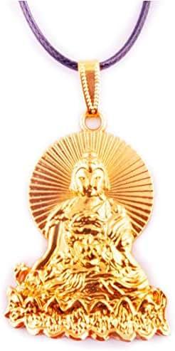 fengshuisale Feng Shui Golden Medicine Buddha Necklace Amulet + Free Red String Bracelet W1258