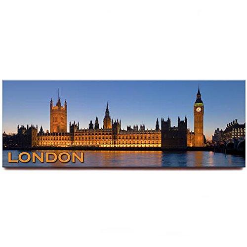 Uk Fridge (Place of Westminster panoramic fridge magnet London England UK travel souvenir)