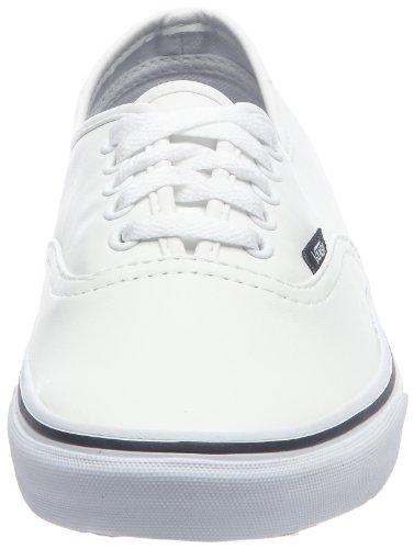 Vans Authentic VNJVL9O - Zapatillas de skate de cuero unisex Blanco