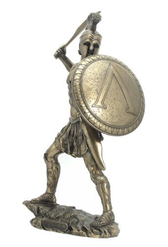 Sword Statue (Spartan Warrior with Sword & Hoplite Shield Sculpture - Ships Immediatly !)