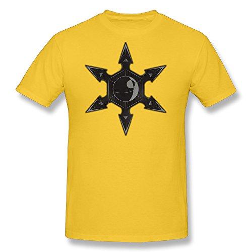 Ramalhorich Mens Imperial Throwing Star T Shirt Gold