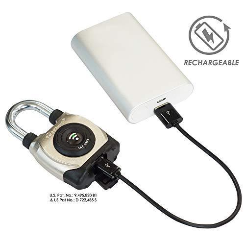 eGeeTouch Outdoor Smart Padlock 3rd Gen, Weatherproof, Bluetooth + NFC (Short Shackle) by eGeeTouch (Image #8)