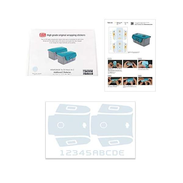 WRAPGRADE Skin Compatibile con DJI Mavic Air 2 | 2 Batterie (Black Bumpy Camo) 3 spesavip