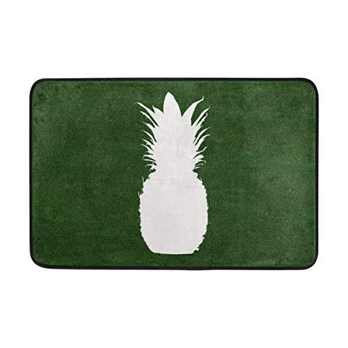 Fun Qiaoya Entrance Doormat Pineapple Indoor Door Mat Non-Slip Doormat 23.6x15.7 inches/60 x 40cm Interlayer Polyester Machine Washable Polyester Fabric]()