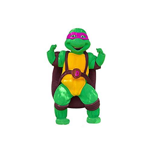 Purple Ninja Turtle Donatello Mascot Costume Character Party Birthday Halloween]()